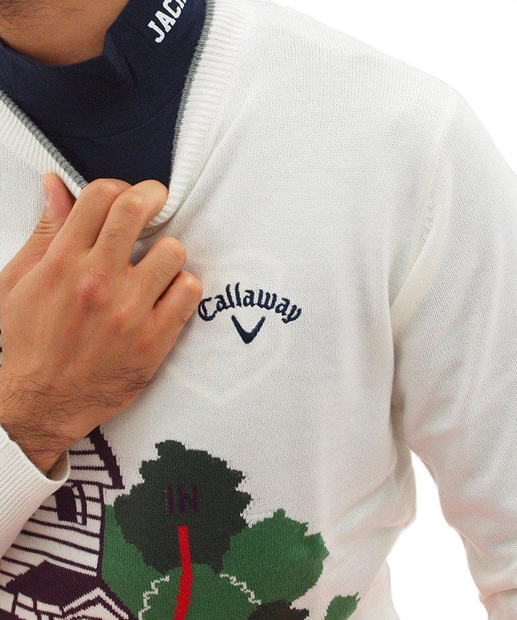 CA カーナビモチーフ♪クルーネックニットのコーディネート写真