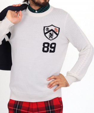 【3000円クーポン付き】PG エンブレムジャガードウールセーター