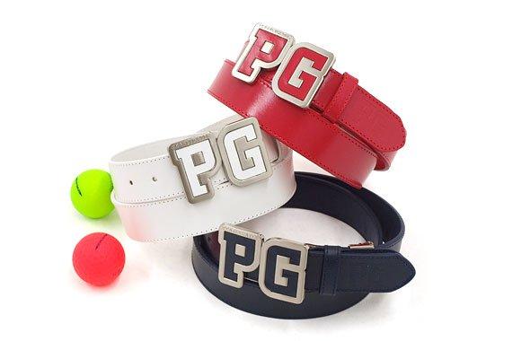 パーリーゲイツ PG Big「PG」バックル★牛革ベルト