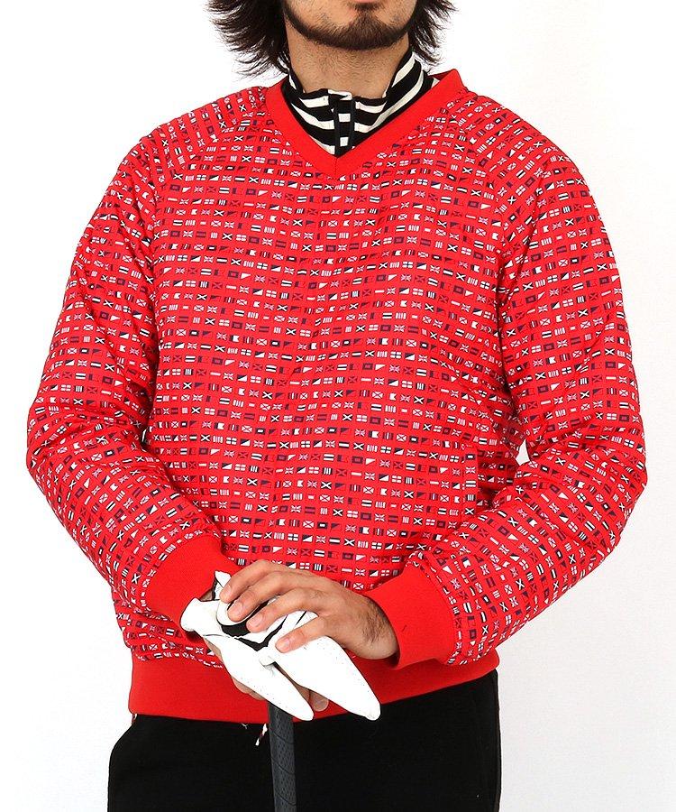 JB 国旗柄リバーシブル中綿入りスニードジャックのコーディネート写真