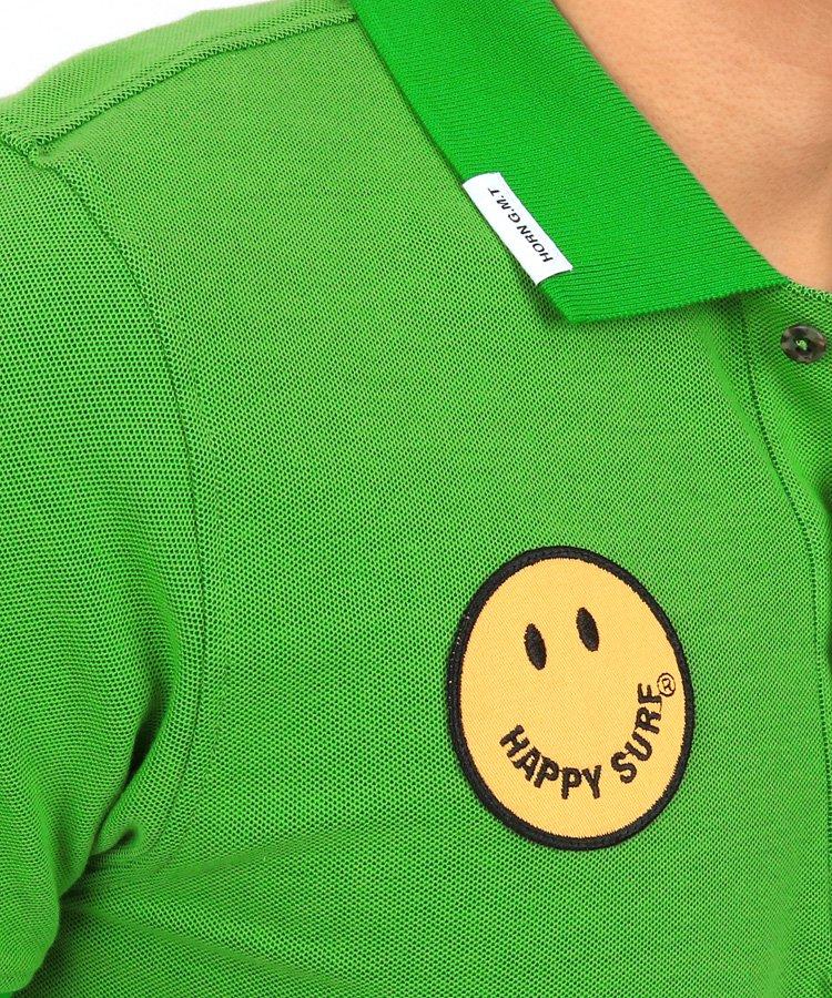 HO Smileワッペン鹿の子ポロのコーディネート写真