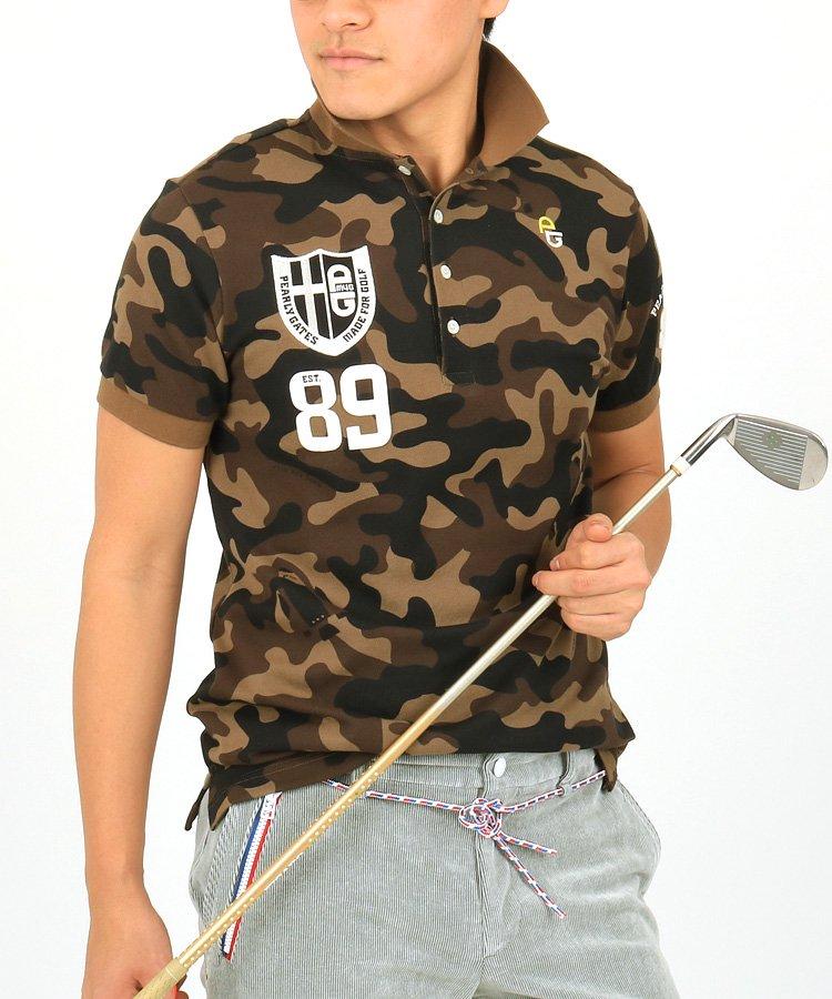 パーリーゲイツ 半袖ポロシャツ・シャツ PG ロケットカモフラポロ