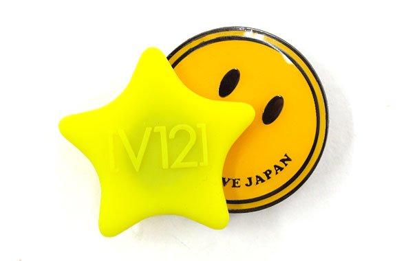 ヴィトゥエルブ VI Smile&Star★シリコントップマーカー(イエロー)