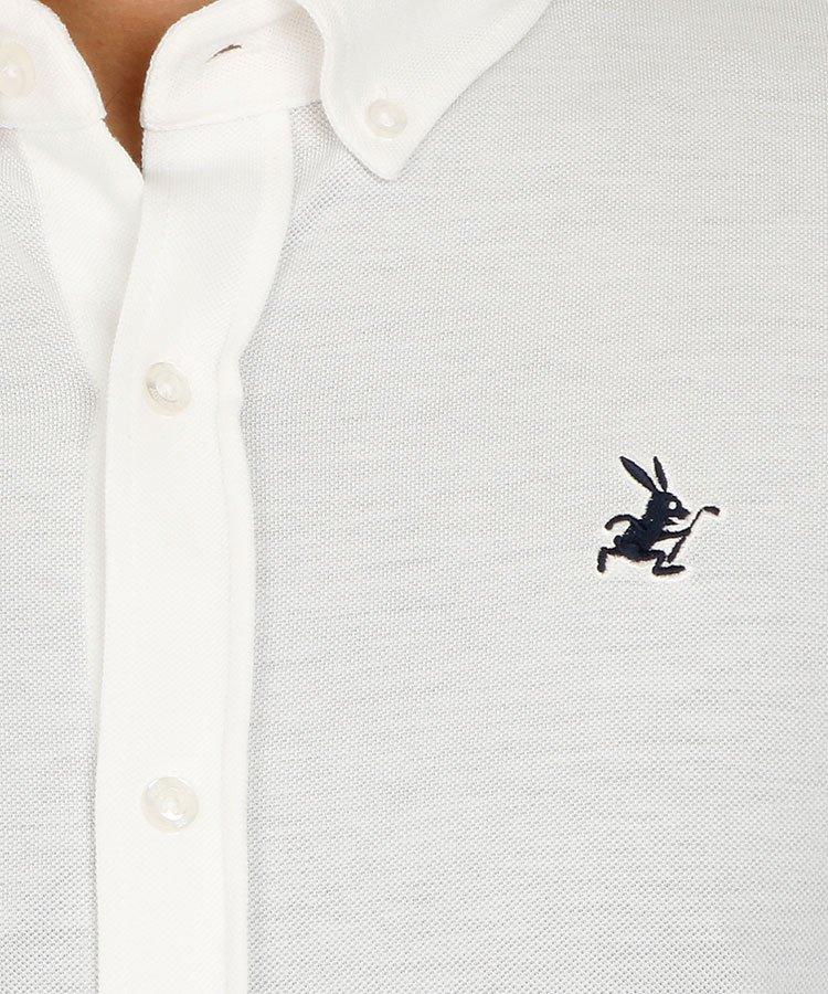 JB シャンブレー鹿の子長袖ポロのコーディネート写真