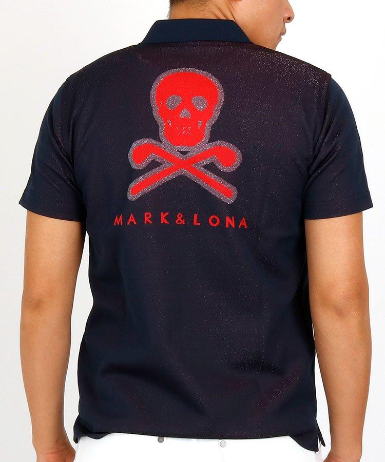 マーク&ロナ 半袖ポロシャツ・シャツ ML スカルジャガードさらさらポロ
