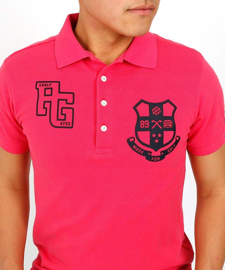 パーリーゲイツ 半袖ポロシャツ・シャツ PG 衿裏プリント定番エンブレムポロ