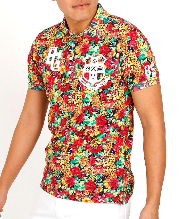 パーリーゲイツ 半袖ポロシャツ・シャツ PG フラワープリントポロ