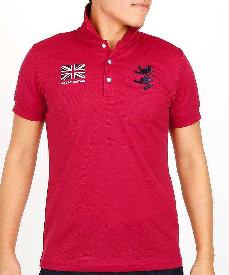アドミラルゴルフ 半袖ポロシャツ・シャツ AM 定番フラッグワッペンメッシュポロ