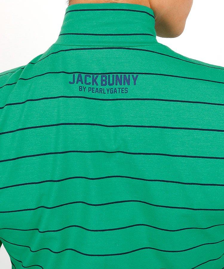 JB 定番ボーダーモックネックカットソーのコーディネート写真