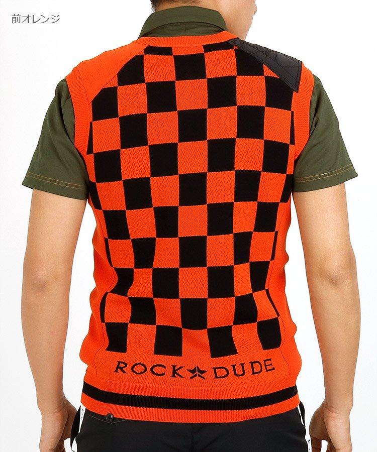 ロックデュード(ROCK・DUDE) RD バックチェッカーニットベスト
