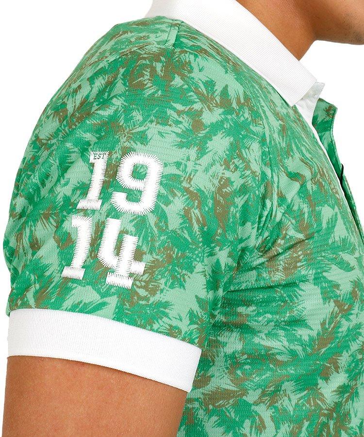 AM パームツリー柄メッシュポロのコーディネート写真