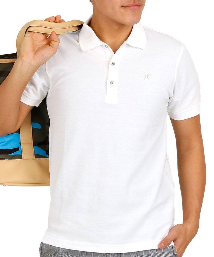 ML 定番W衿ワンポイントポロのコーディネート写真