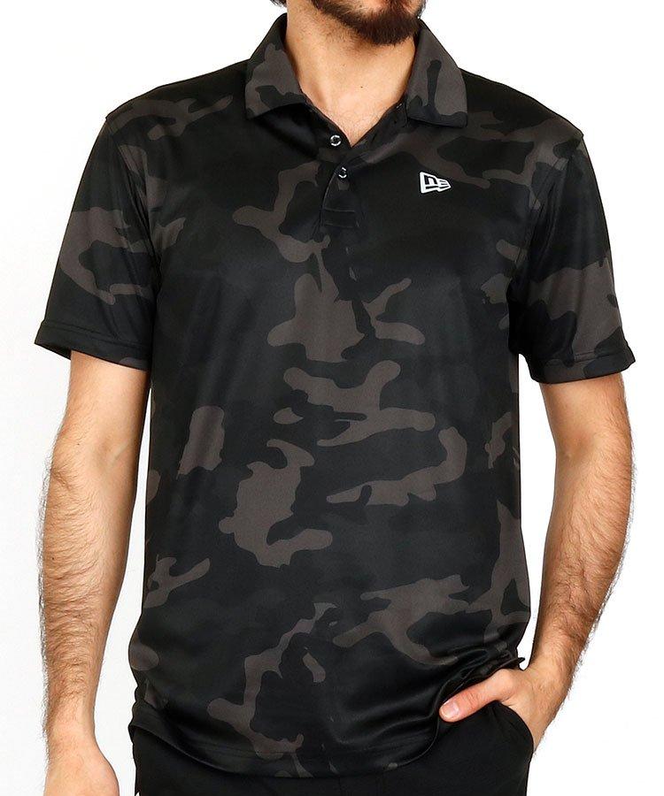 ニューエラ 半袖ポロシャツ・シャツ NE さらさらゴルフポロ_ブラック