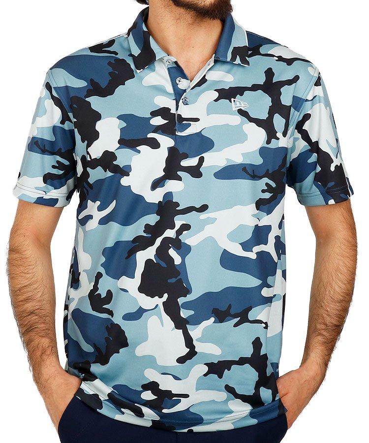 ニューエラ 半袖ポロシャツ・シャツ NE さらさらゴルフポロ_ネイビー