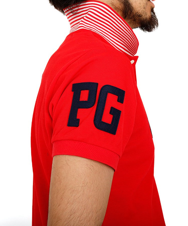 PG 裾カラー切替ポロのコーディネート写真