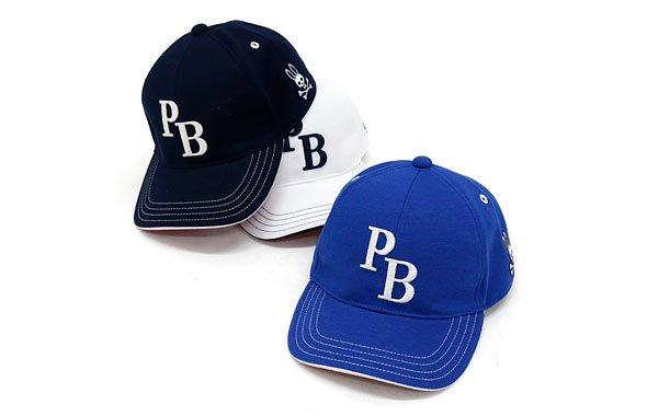 PS 「PB」ロゴ刺繍裏つば配色キャップ