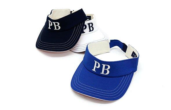 PS 「PB」ロゴ刺繍裏つば配色バイザー