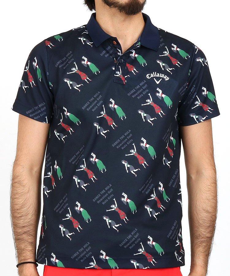 キャロウェイ 半袖ポロシャツ・シャツ CA フラガールプリントUVカットポロ