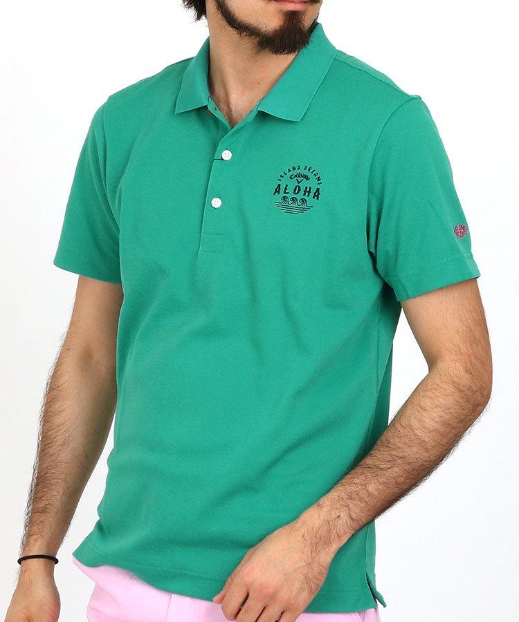 キャロウェイ 半袖ポロシャツ・シャツ CA 衿裏ALOHAプリントポロ