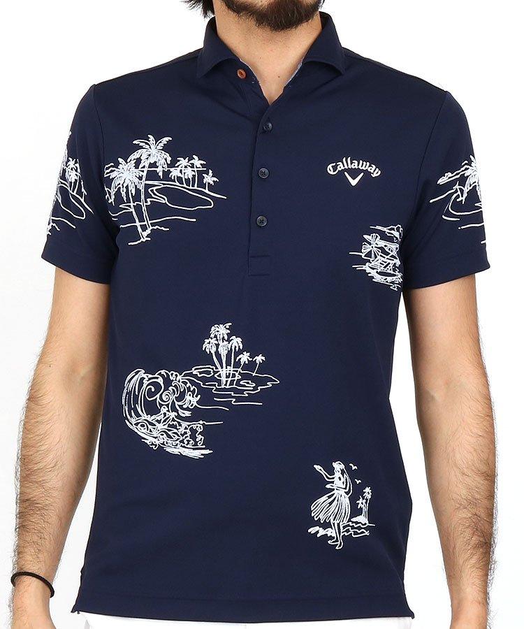 キャロウェイ 半袖ポロシャツ・シャツ CA 汗目立ちにくい!LotusMagicポロ