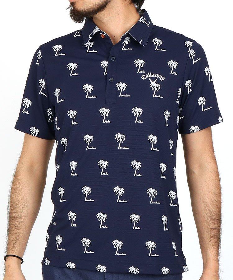 キャロウェイ 半袖ポロシャツ・シャツ CA CoolDryハワイ♪ヤシの木サマーポロ