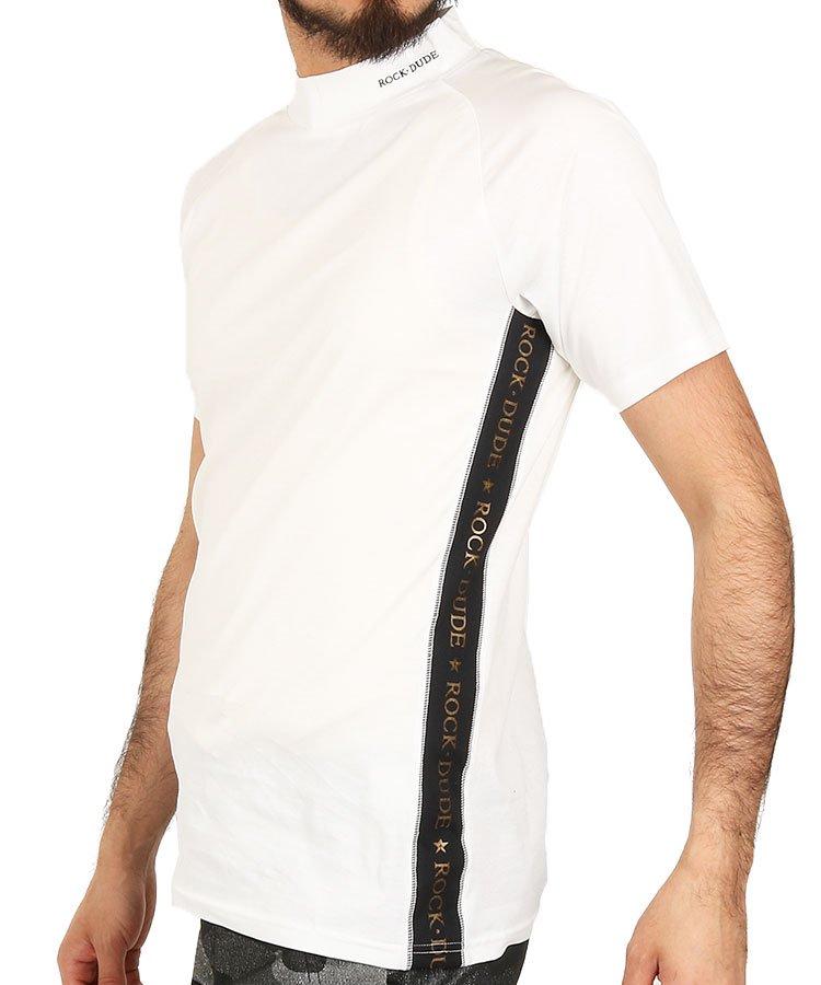 e3d73317af43a ロックデュード(ROCK・DUDE)   シンプル半袖モックネック   メンズ ...
