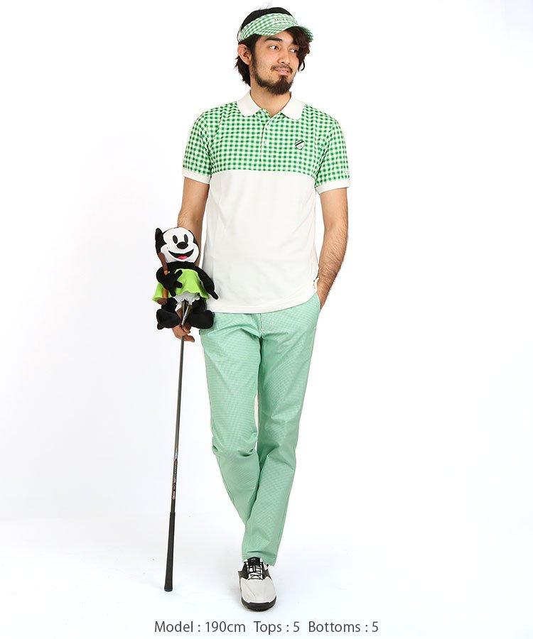 JB ギンガムチェックストレッチパンツのコーディネート写真