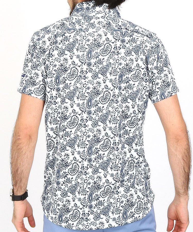 MB プレミアムTEXダマスク柄シャツのコーディネート写真