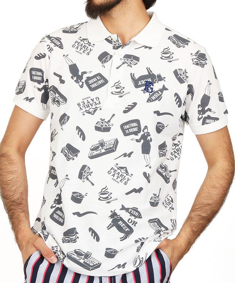 パーリーゲイツ 半袖ポロシャツ・シャツ PG BeefOrFish機内食ポロ