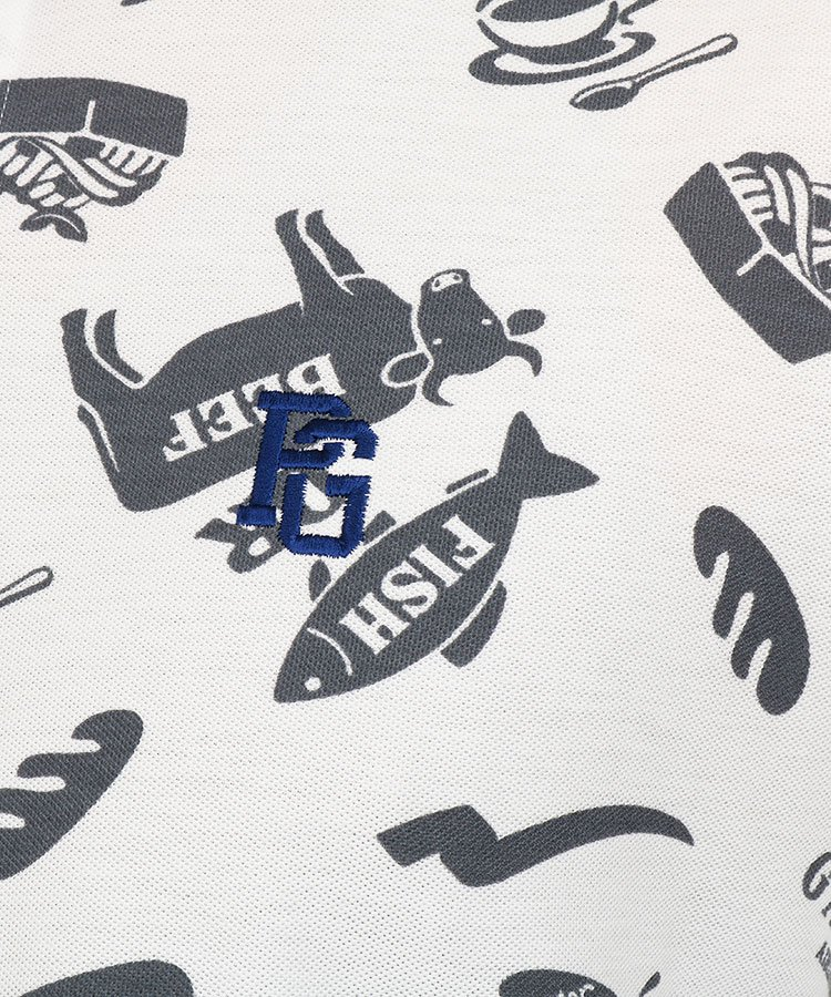 PG BeefOrFish機内食ポロのコーディネート写真