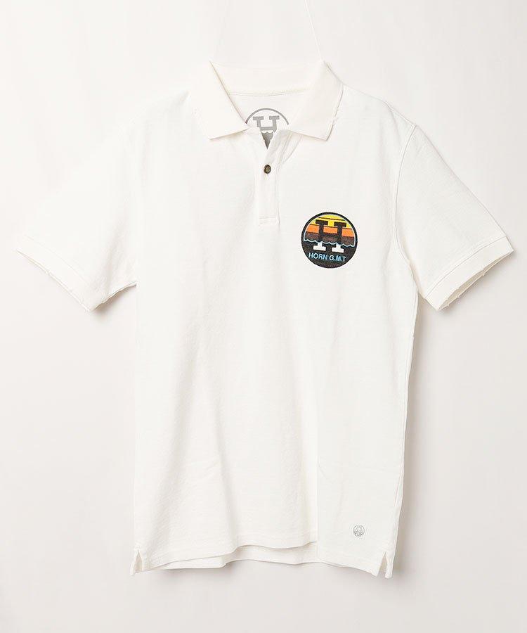 ホーンガーメント 半袖ポロシャツ・シャツ HO 背中にSURF鹿の子ポロ