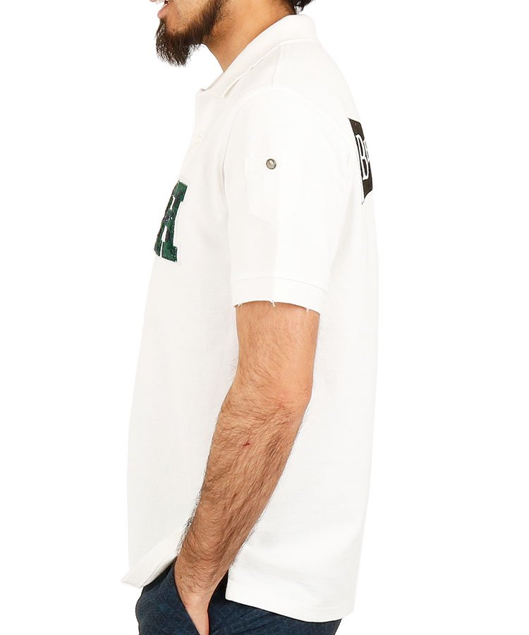 HO BACKペナントデザインポロのコーディネート写真