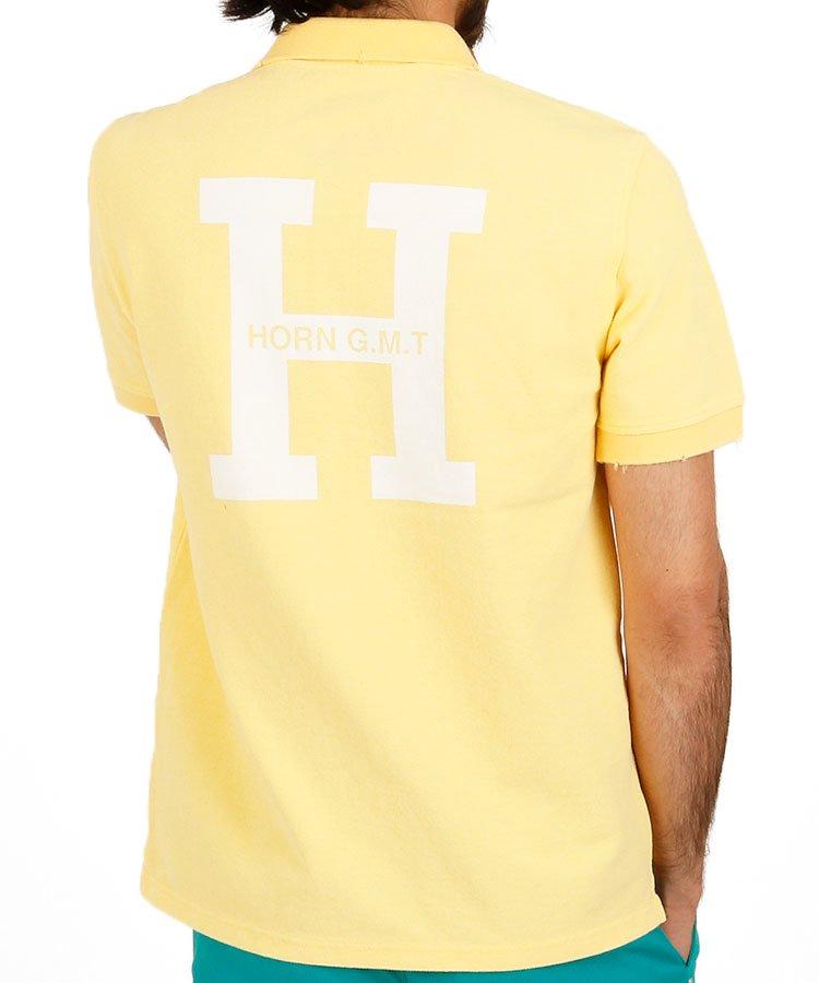 ホーンガーメント 半袖ポロシャツ・シャツ HO Bigプリントビンテージ風ポロ