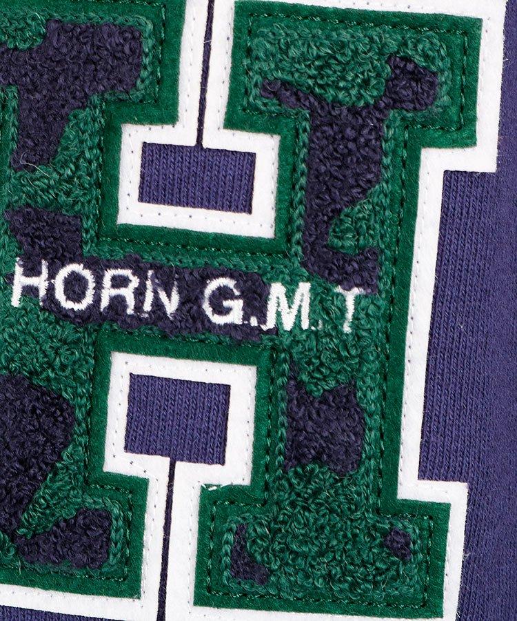 HO 「H」ワッペンスウェットパーカーのコーディネート写真