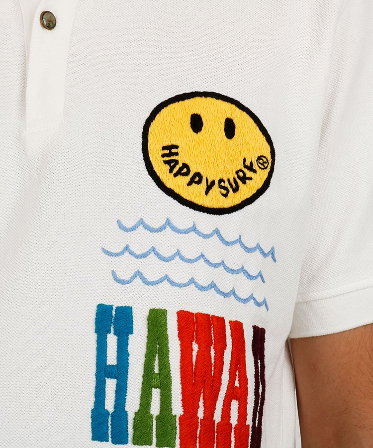 HO 背中にHawaii刺しゅうポロのコーディネート写真