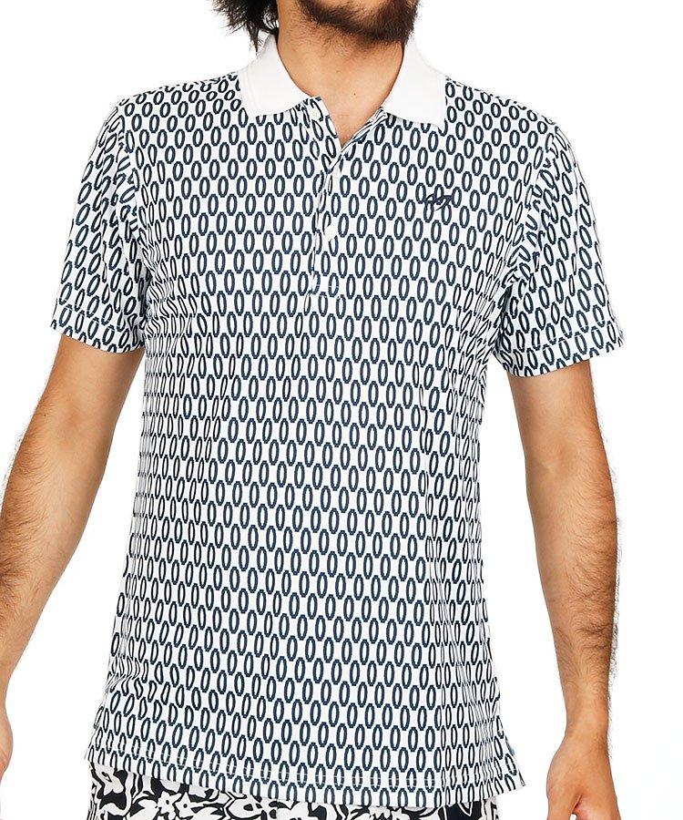 マスターバニー 半袖ポロシャツ・シャツ MB プレミアムTEXオーバル柄ポロ