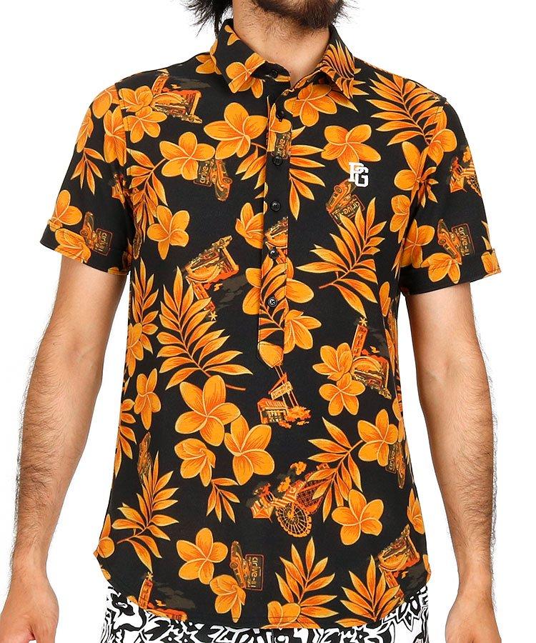 パーリーゲイツ 半袖ポロシャツ・シャツ PG Flower&Car★シティアロハポロ