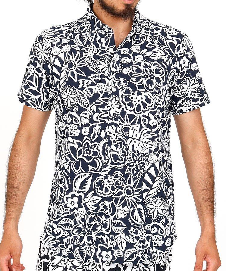 パーリーゲイツ 半袖ポロシャツ・シャツ PG 手書き風Flowerシャツ