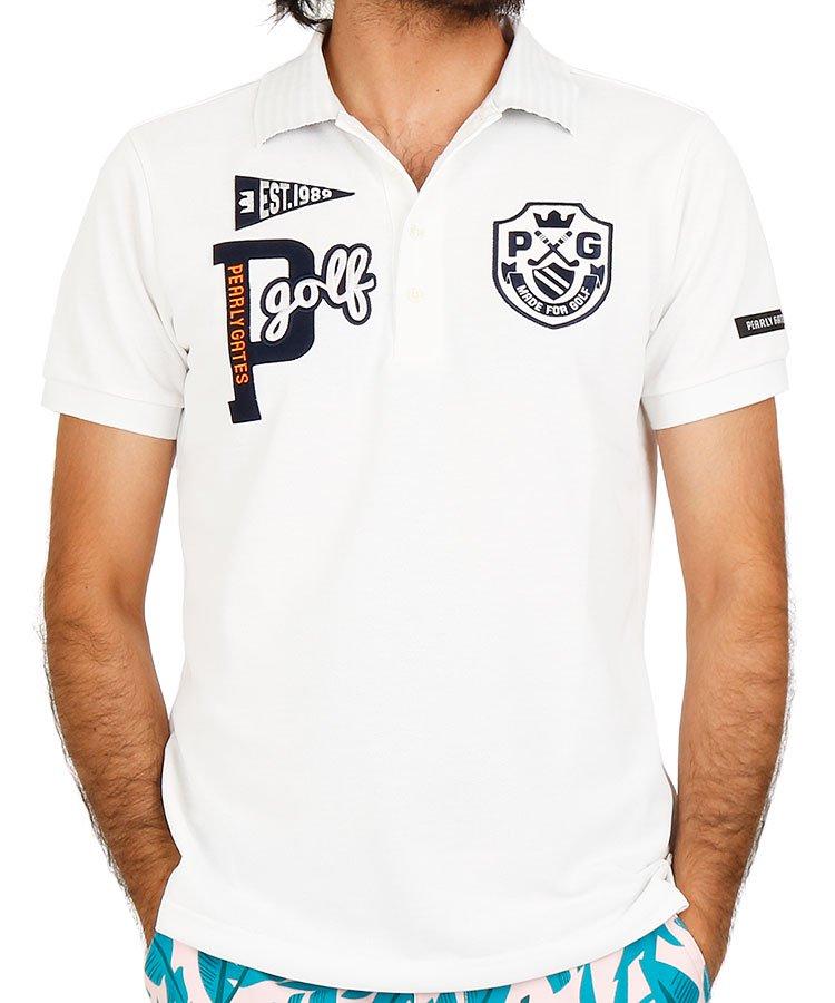 パーリーゲイツ 半袖ポロシャツ・シャツ PG BIGワッペン定番ポロ