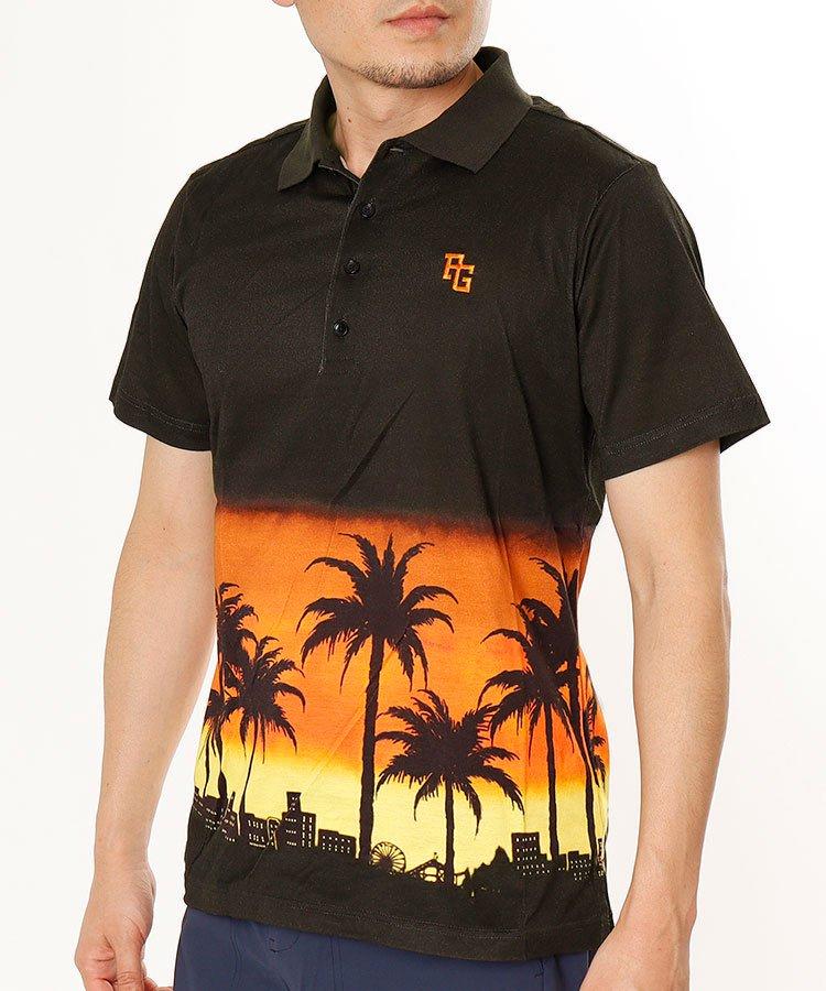 パーリーゲイツ 半袖ポロシャツ・シャツ PG リゾートTOWNランドスケープポロ