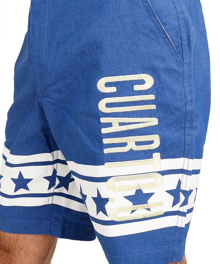 CU 星柄ラインハーフパンツのコーディネート写真
