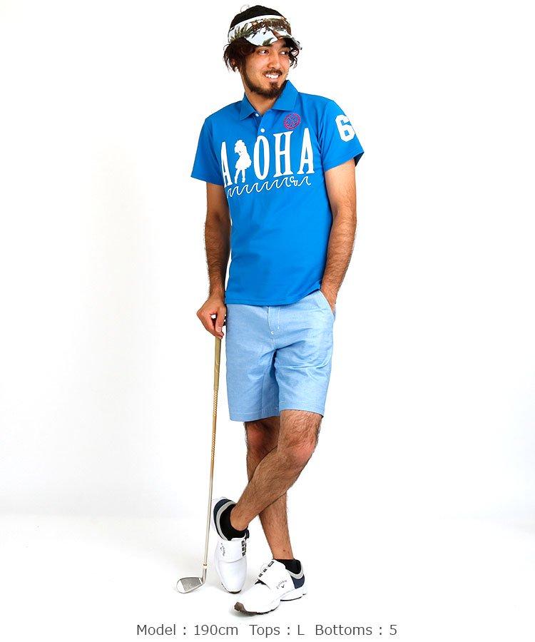 CU ゴルフALOHAポロのコーディネート写真