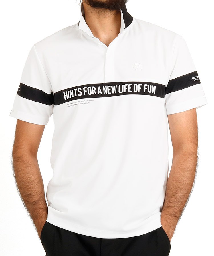 ハチヤーズ 半袖ポロシャツ・シャツ YA ループポロ_ホワイト
