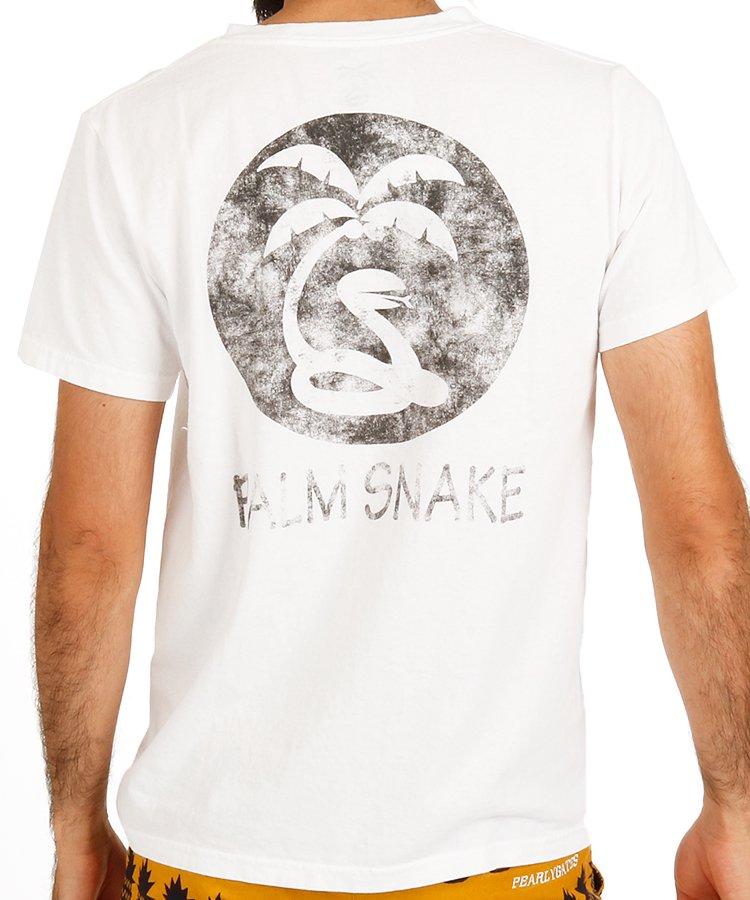 パームスネイク PA かすれPrintポケットTシャツ