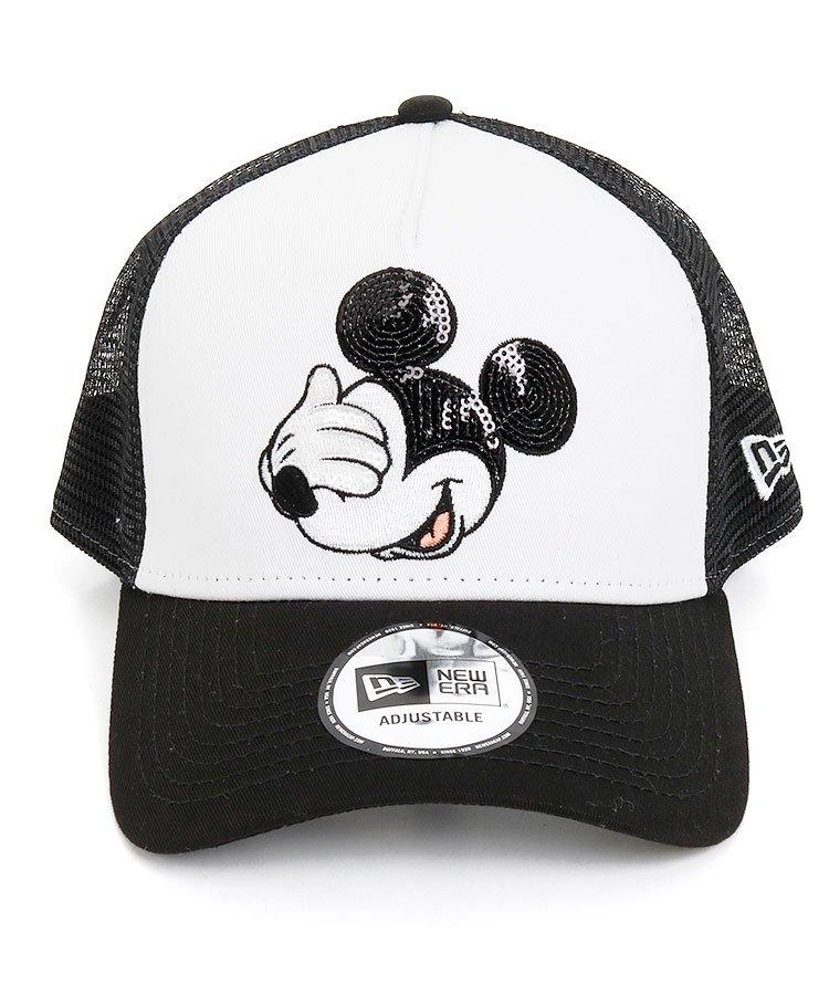 NE Disneyコラボ★Mickey刺しゅう配色メッシュキャップのコーディネート写真