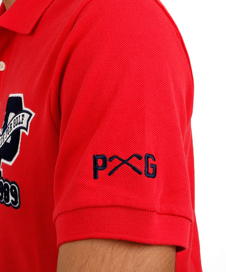 PG 定番「P」ワッペンポロのコーディネート写真
