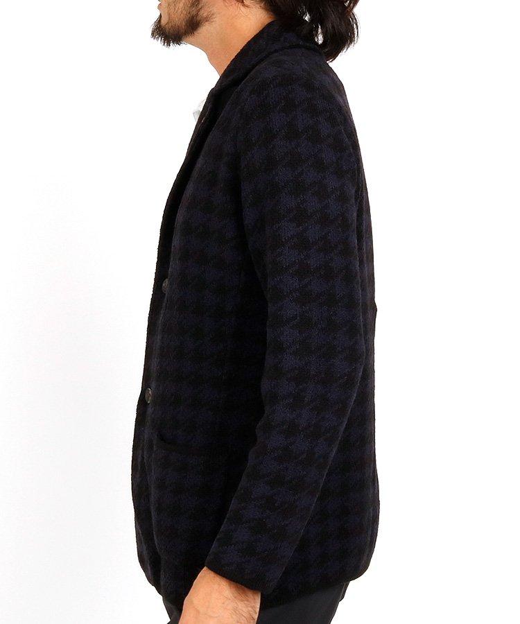ST 【JWO】ハウンドトゥースニットジャケットのコーディネート写真