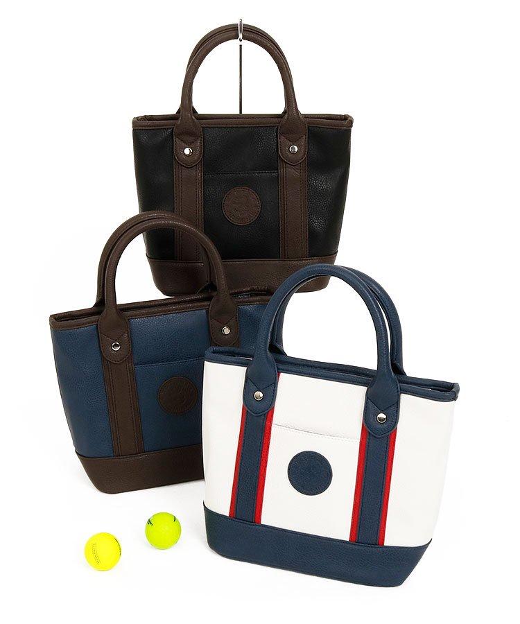 アドミラルゴルフ AM レザー風◆配色カートバッグ
