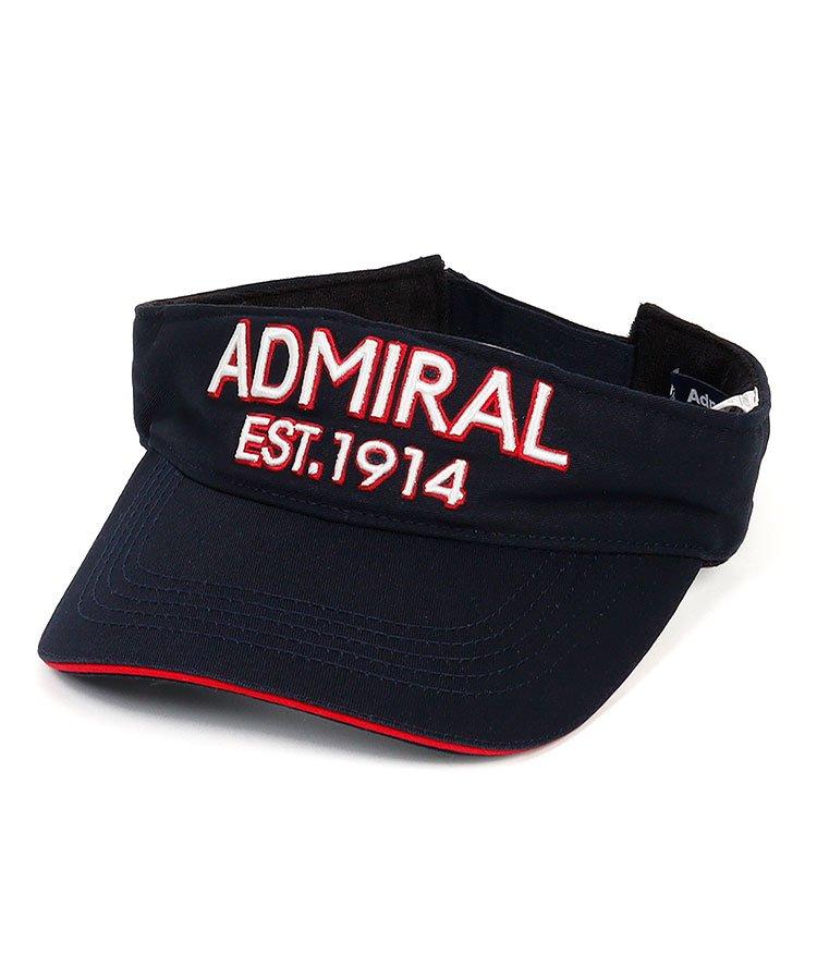 アドミラルゴルフ AM 配色orシンプル♪ロゴ刺繍バイザー