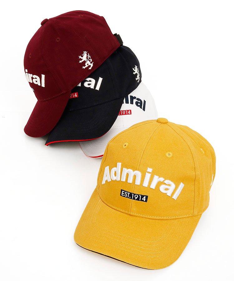 アドミラルゴルフ AM Frontロゴ刺繍コットンキャップ